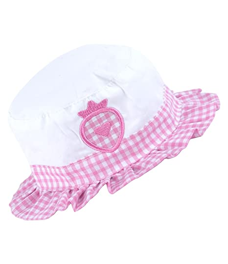 e06ec2dea Amazon.com: BabyPrem Baby Hat Sun Cap Girls Pink White Gingham Heart ...