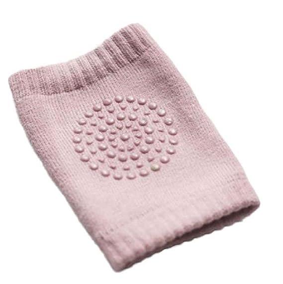 Sannysis rodilleras protector para bebé niños calcetines de arrastre antideslizantes (Rosa)