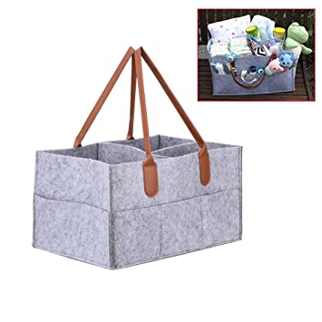 Amazon.com: DuuToo Diaper Organizador Plegable Fieltro Bolsa ...
