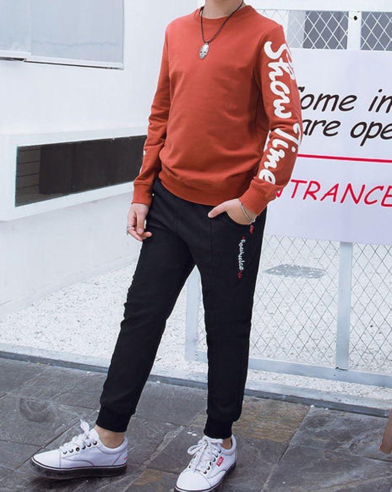 Gar/çon Pantalon De Sport D/écontract/ée Resserr/é Aux Chevilles Pantalon De Surv/êtement