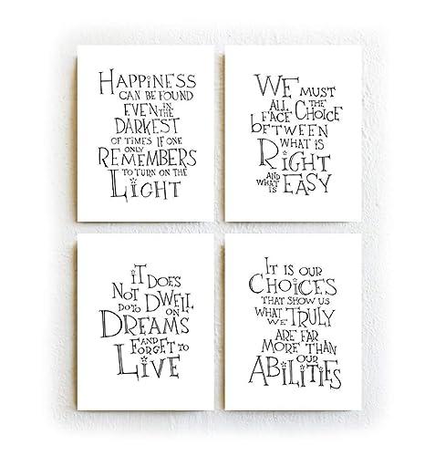 Dumbledore Quotes Amazon.com: Harry Potter Albus Dumbledore Quotes   Set of Four  Dumbledore Quotes