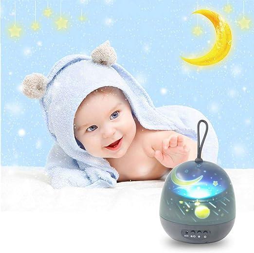 ZZYYZZ Lámpara de proyector para bebés, 8 Colores Proyector de luz ...