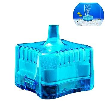 Yakamoz - Mini filtro de carbón activo para acuario (para depósito de 40 cm de altura), color azul: Amazon.es: Productos para mascotas