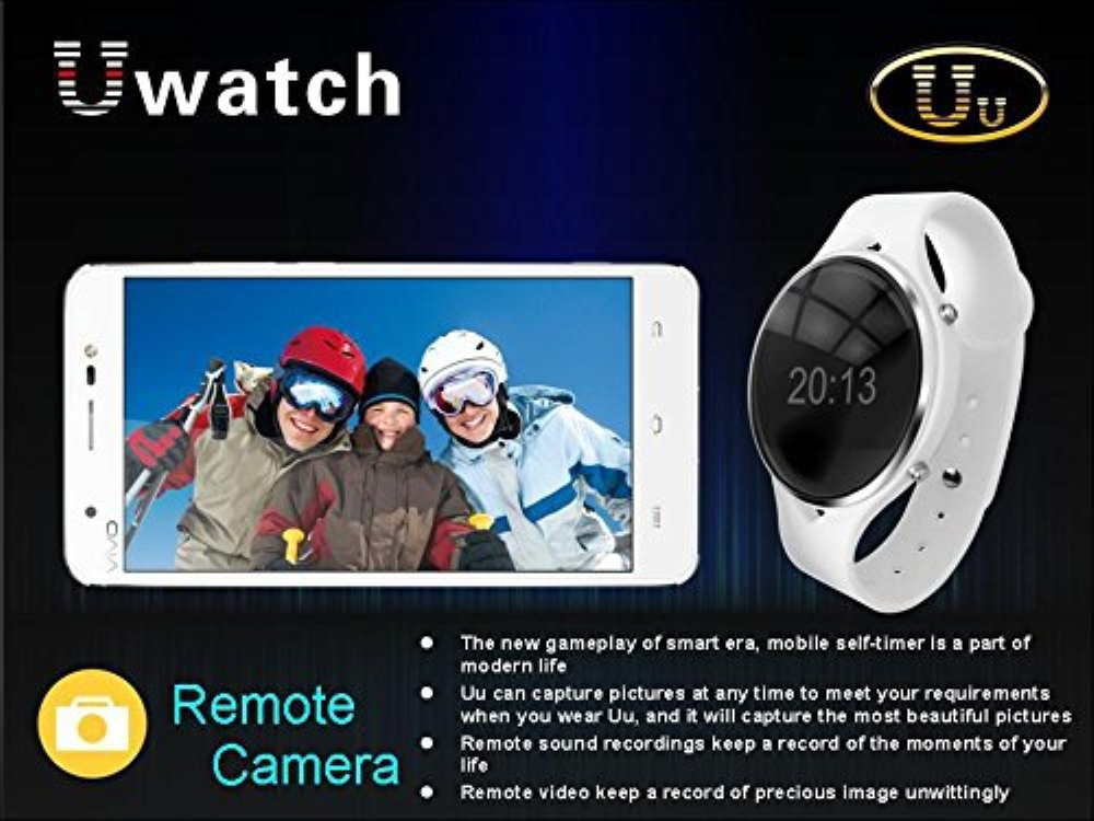 Amazon.com: Asmart center® Uu Bluetooth Smart Watch Phone smart Wristwatch with Handsfree Anti-lost Remote Capture sync calls for Android Smartphone iphone ...