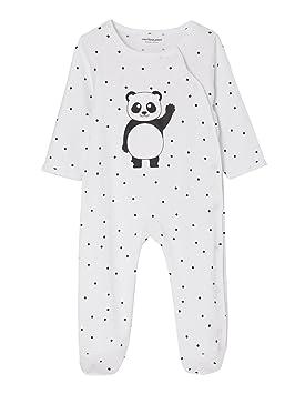 9dcd26ffba643 VERTBAUDET Lot de 2 pyjamas bébé coton pressionné devant Gris + blanc 1M -  54CM