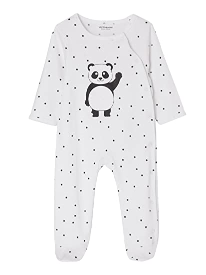 VERTBAUDET Lote de 2 pijamas para bebé de algodón, con automáticos delante GRIS OSCURO BICOLOR