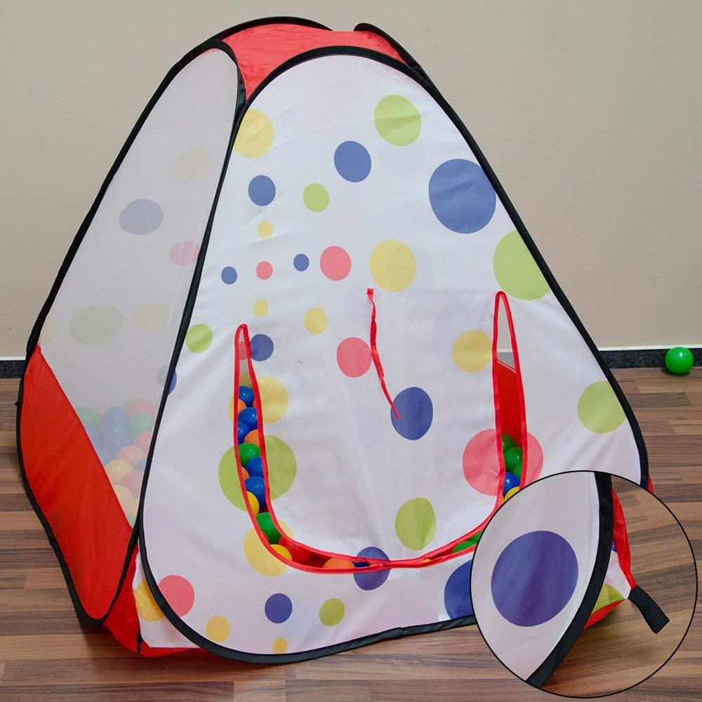 LittleTom Tienda de campaña Juguete 90x90x90cm Piscina de Bolas con Lunares
