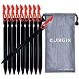 """Kungix Tent Stakes Pegs 7"""" Aluminium Alloy with Reflective Rope 10-Piece"""