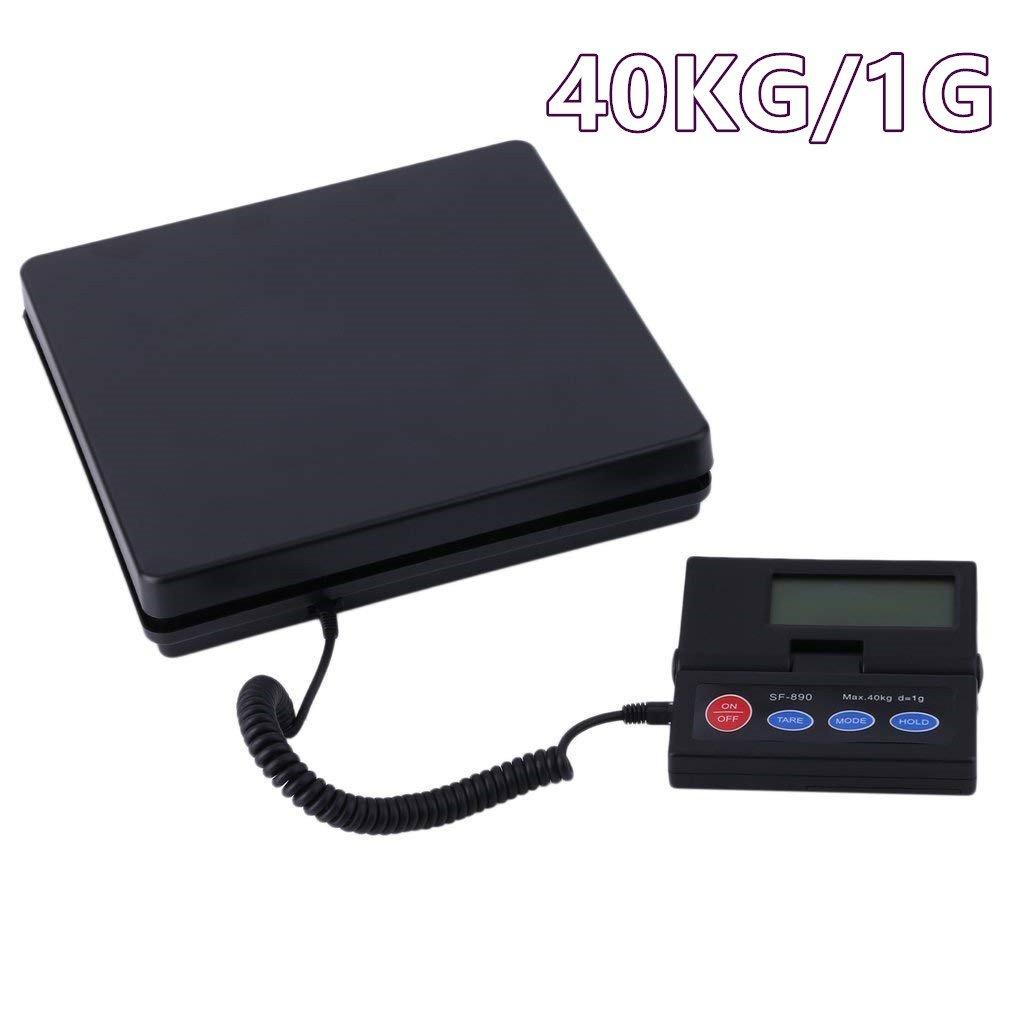 KinshopS Balance numérique pour Paquets de 40 kg/1 g Balance de Poste Digitale Pese Dimensions du plateau 25 x 25 x 4,5 cm Écran LCD