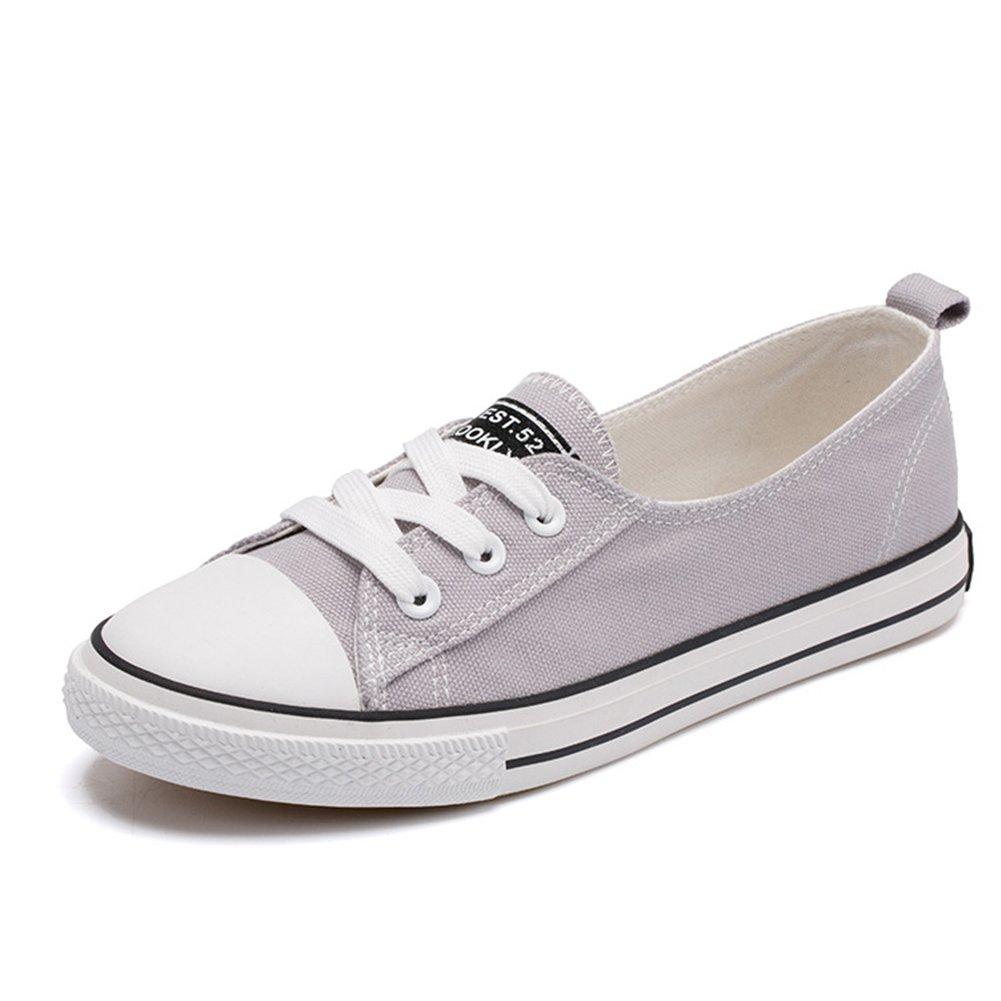 Fashion Canvas Flat Shoes Women, Classic Casual Walking Loafer Shoes Women Low Top Sneakers
