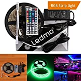 led lights changing color strip - LEDMO 16.4Ft Waterproof Flexible Strip 300 LEDs Color Changing RGB SMD5050 LED Light Strip Kit RGB 5M with 44Keys IR Remote Controller and 12V 5A Power Supply