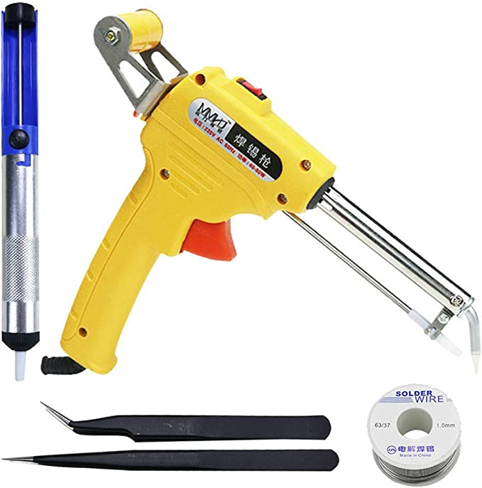 60W Electric Soldering Iron Gun With Flux 2 Solder Wire Send Tin Tool Kit 110V