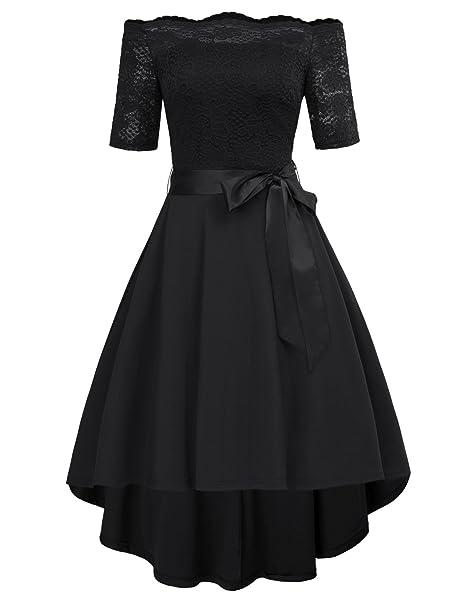 b7a8b0abef1f GRACE KARIN Donna Vintage Pizzo Vestito Slim Una Spalla Abiti da Sera  IT686-1 S  Amazon.it  Abbigliamento