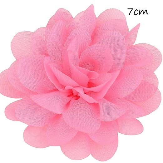 100x Chiffon Flower Fabric Embellishment for DIY Hair Accessories Headwear
