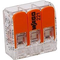 Kopp 33346405 Wago steekklem 3-voudig met hendel voor flexibele draden heropenbaar transparant 1,5-2,5 mm² inhoud 10…