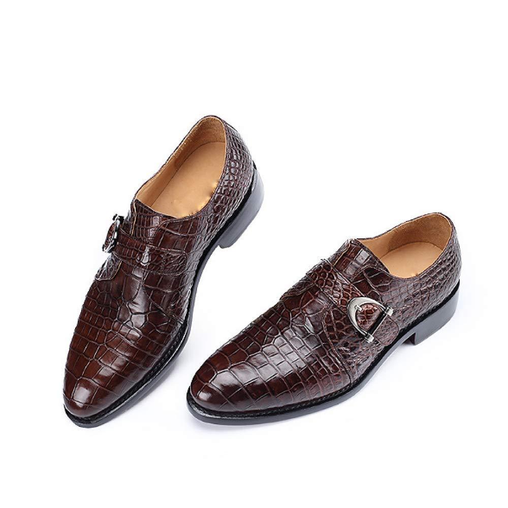 Männer Lederschuhe Handgemachte Mode High End Faule Schuhe England Vintage Handgemachte Lederschuhe Komfortable Breathable Braun d7972e