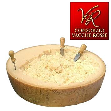 """Parmigiano Reggiano PDO""""Vacche Rosse/Red cows"""" Half wheel 44 lbs (kg"""
