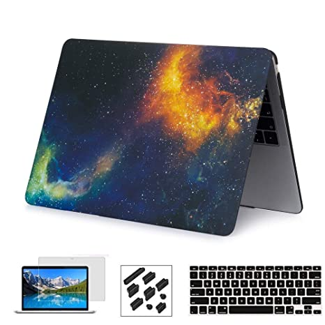 RYGOU Estuche rígido 4 en 1 con cubierta de teclado Protector de pantalla Compatible con MacBook Pro 15