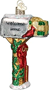 Old World Christmas Gifts Glass Blown Ornaments for Christmas Tree Welcome Home Mailbox