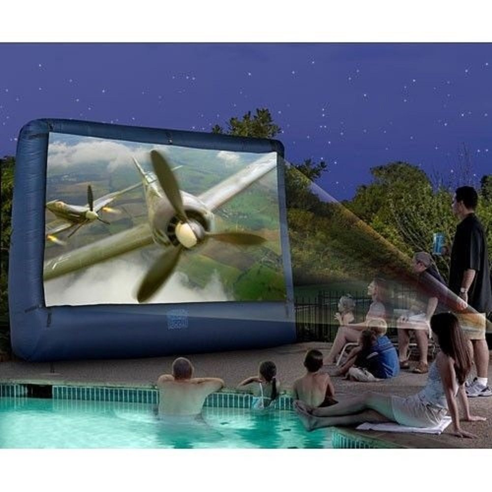 Outdoor Inflatable 12 ft Movie Screen for your Backyard with storage bag. Enjoy your favorite movies, TV Programs or Videos by the Pool or on the Patio. Great for Parties, BBQ's and just enjoying family time. It is weatherproof and fade-resistant. by Rylan Products