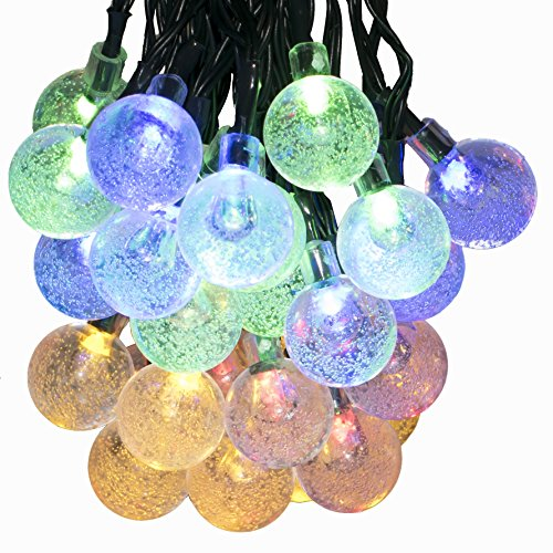 Voilio Solar String Lights 30 Led [8-Function Control] 21.3 Feet(6.5m)Crystal Ball Decorative Lights-Multi Color (Strobe Light Slow Motion compare prices)