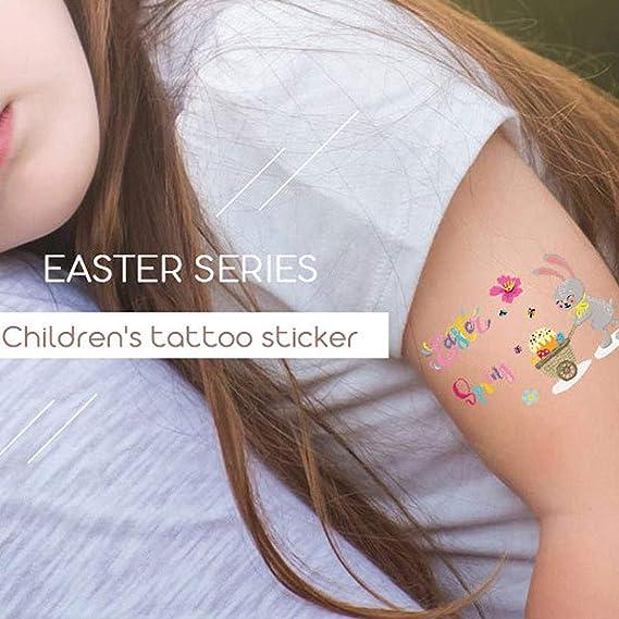 Tatuaje temporal, 12 unidades, tatuaje temporal, Pascua, dibujos ...