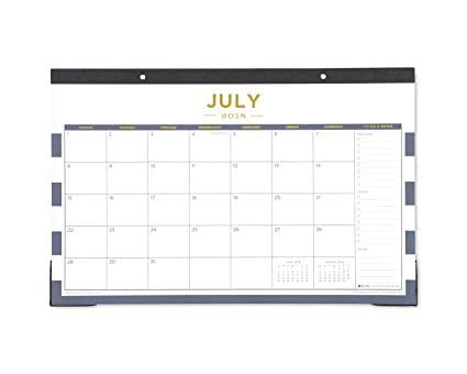 Day designer for blue sky 2018 2019 academic year monthly desk pad calendar 17quot