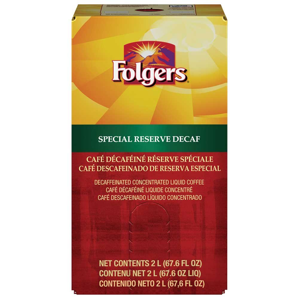 Folgers Special Reserve Decaffeinated Coffee, 2 Liter -- 2 per case.