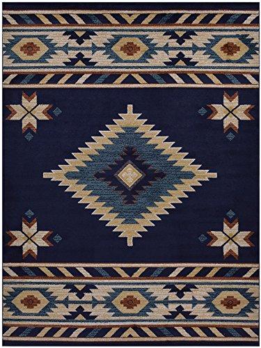 nevita collection southwestern native american design area rug rugs geometric navy. Black Bedroom Furniture Sets. Home Design Ideas