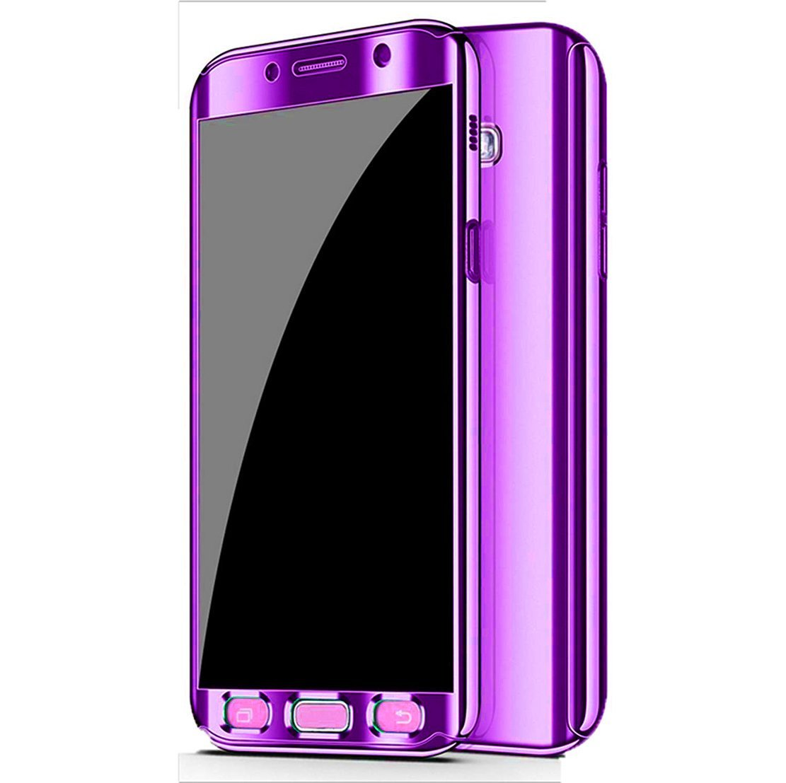 Galaxy Note 8 Case, Ultra Slim Electroplate 360 Degree Full Body Protection Mirror Case With Tempered Glass Screen Hard PC Protector For Samsung ...