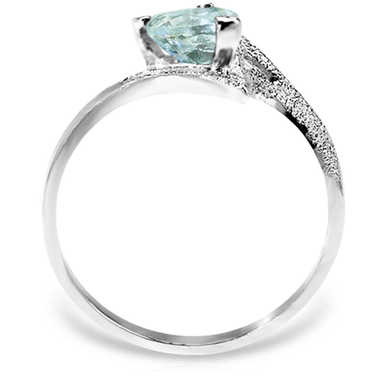 ALARRI 0.95 Carat 14K Solid White Gold White Dove Aquamarine Ring With Ring Size 5.5 by ALARRI (Image #2)