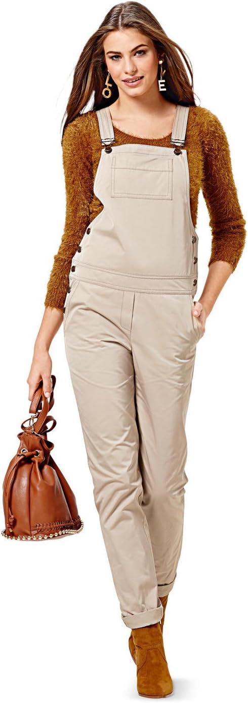 Blanc 19 x 13 x 1 cm Papier Burda B6599 Patron de Couture Salopette