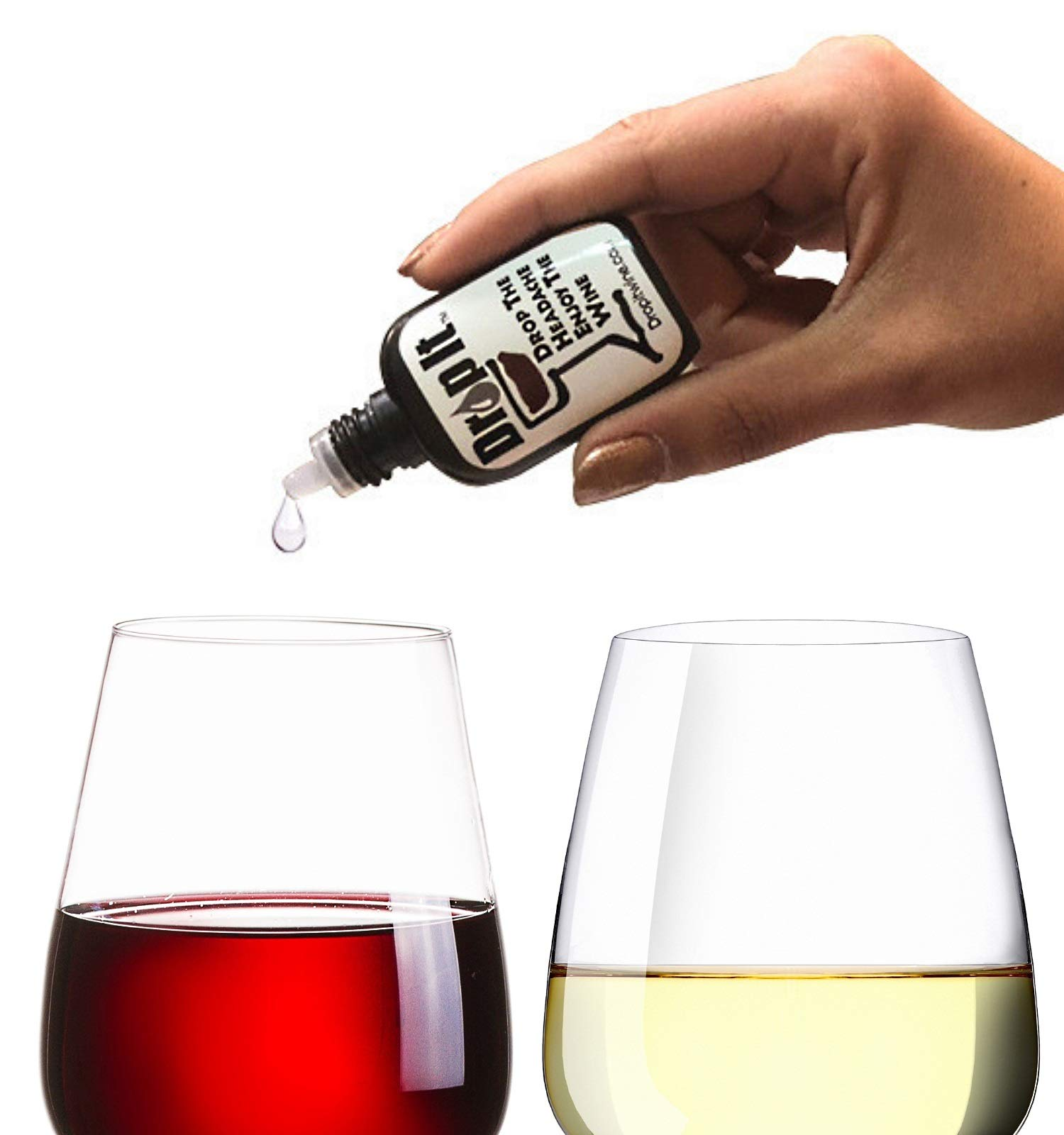 Drop It Wine Drops, 1 Pack - Natural Wine Sulfite Remover and Tannin Remover - Drop the Wine Headache, Enjoy Your Wine - Portable and Discrete - A Wine Filter or Wine Wand Alternative by Drop It Drop The Headache Enjoy The Wine