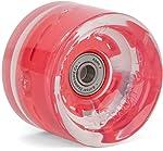 Roue pour skateboard transparent avec jante rouge