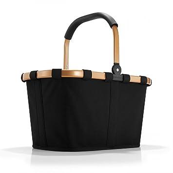 Reisenthel Korb Waschen reisenthel carrybag frame schwarz gold 22 liter einkaufskorb faltbar