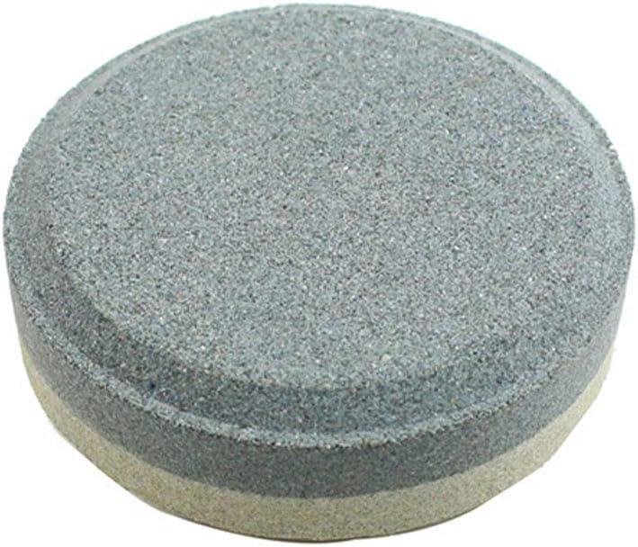 Piedra de afilar auténtica con forma redonda, piedra de afilar de doble cara para lijar al aire libre accesorio de afilado multiusos para accesorios de cocina