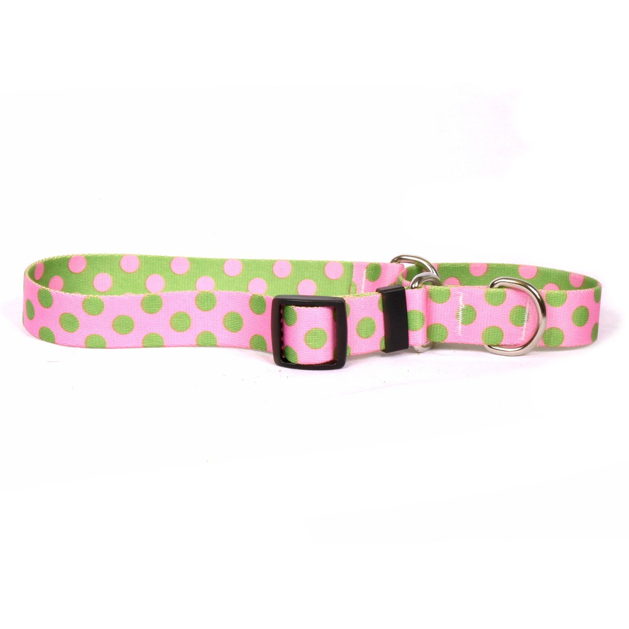 Yellow Dog Design Martingale Slip Collar, Pink/Green Polka Dot, Large 27'' by Yellow Dog Design