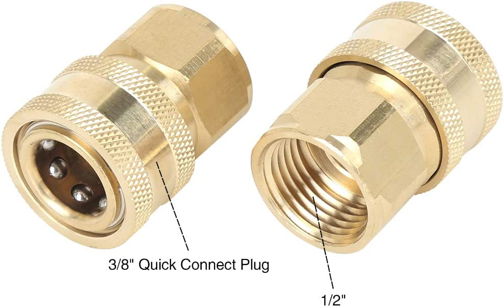 X AUTOHAUX 2pcs Car Quick Connect Pressure Washer Adapter 1//4 Female Thread Socket