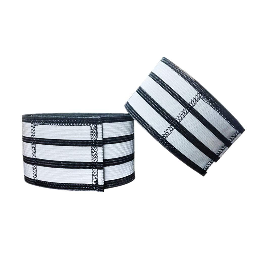 PKMA Reflektierende Knöchelbänder, hochwertiges, atmungsaktives, weiches und leichtes Material, wasserdicht, leistungsstarker Klettverschluss, längenverstellbar, reflektierende Bänder