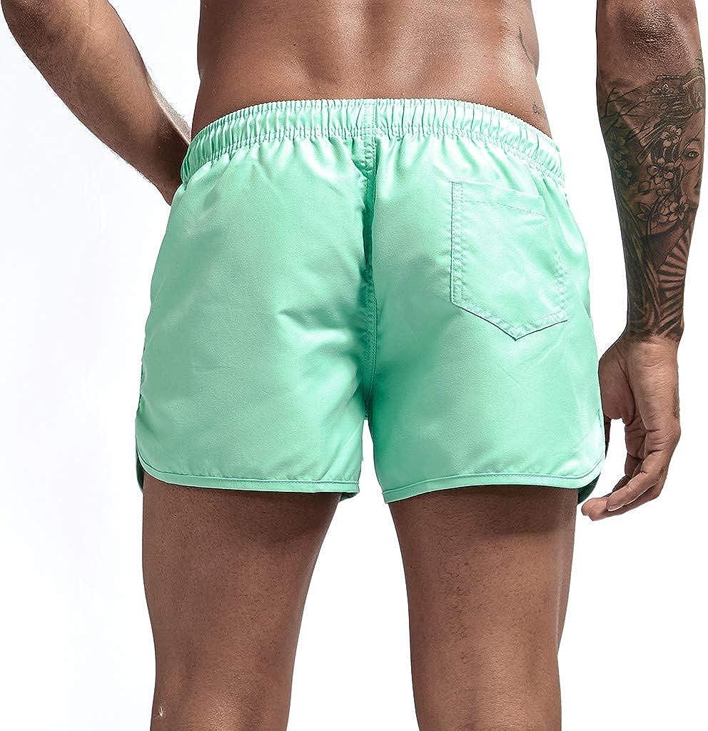 Seaintheson Mens Beach Shorts,Gym Athletic Running Sweatpants Plus Size Surfing Swim Trunks