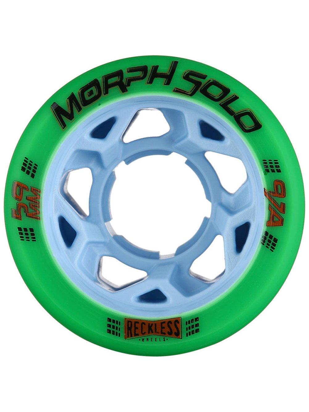 GRN MNSTR Reckless Morph Solo Wheels (Green 97A, Set of 4)