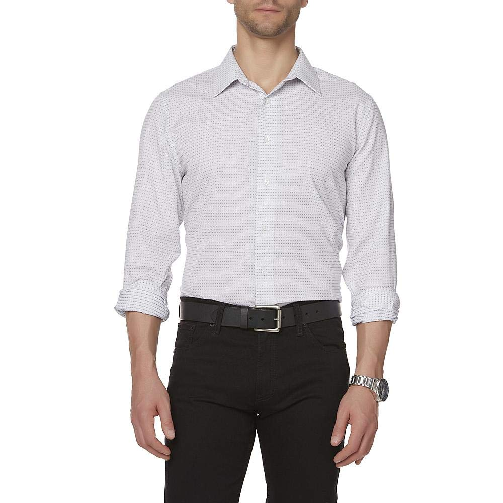 Structure Mens Long-Sleeve Slim Fit Dress Shirt Size Medium 15.5 32//33