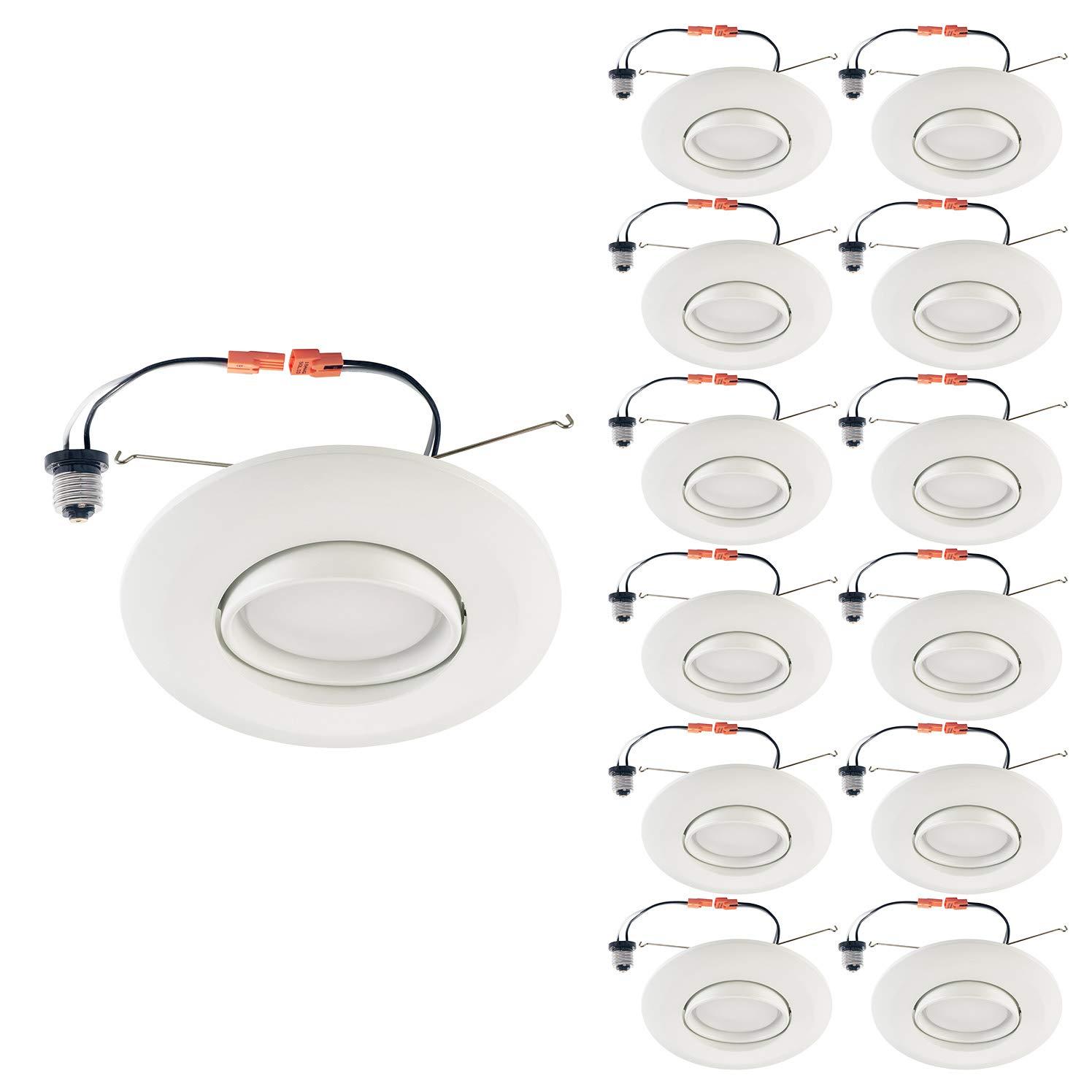 人気アイテム OSTWIN LED LED ダウンライト Pack|5000K レトロフィットキット ジンバル - 6インチ 6インチ 1 Pack ホワイト OW-LDLRK-GBR-6D1540W B07M62S54C 5000K (Daylight) 12 Pack 12 Pack|5000K (Daylight), Dream Link:e0147630 --- a0267596.xsph.ru