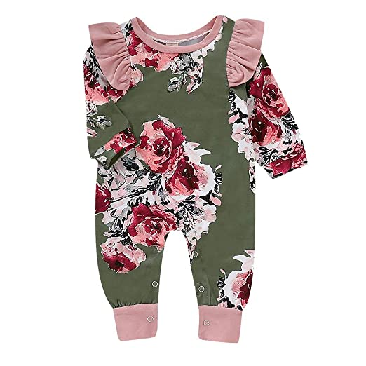 a970236998fa Amazon.com  Baby Boys One-Piece Rompers Baby Girls Sleepwear Robes ...