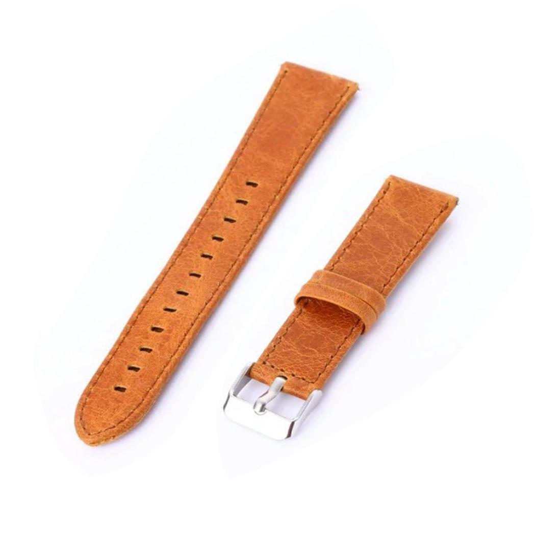 DDLBiz Fashion Luxury Leather Adjustable Watch Band Strap Belt For Samsung Gear S3 Frontier (Orange)