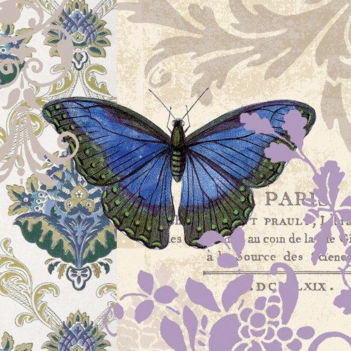 Vintage Papillon Butterfly Cocktail Napkins