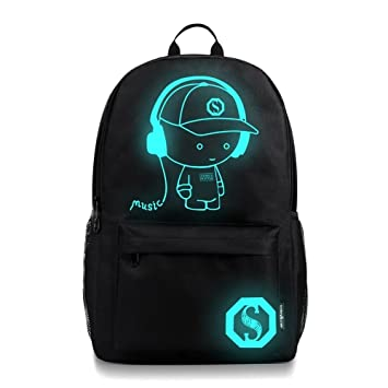 TUDUZ Cool Boys School Backpack Luminous School Bag Music Boy ...