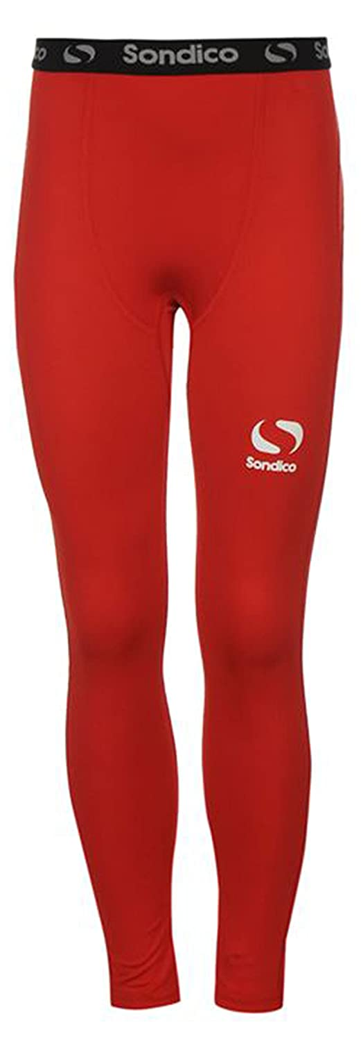 Juniors Boys Branded Sondico Compression Core Tights Base Layer (9-10 Yrs, Red)