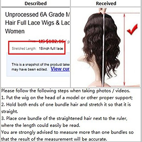 Eversilky Hair Deep Curly Brazilian Lace Front Wig Virgin Hair Glueless Lace Front Human Hair Wigs with Baby Hair Lace Front Wigs for Black Women 16 Inches by Eversilky Hair (Image #5)