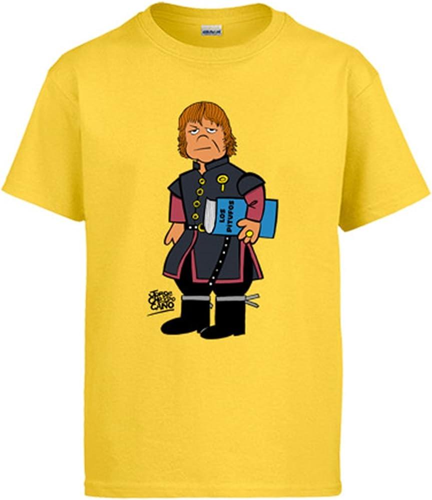 Diver Camisetas Camiseta Parodia Juego de Tronos Enano Tyrion - Amarillo, 3-4 años: Amazon.es: Ropa y accesorios